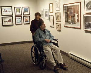 Many residents had to view the show from wheelchairs. Photos by Bruce Frisch.