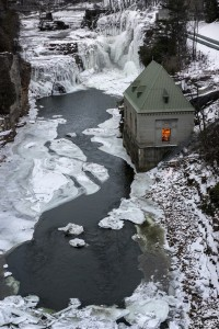 Ausable Chasm at midwinter.