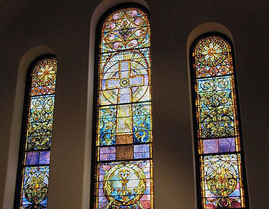 Battell Chapel Windows Reinstalled